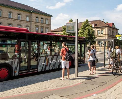 Mobil Nahverkehr Bushaltestelle
