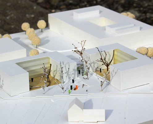 2013-03-07 Wohnheimneubau Reutlingen - 3P-Architekten -Stuttgart -Modellansicht1