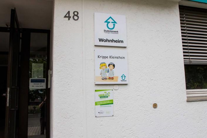 Kita Kleinstein Hohenheim Eingang