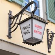 Mensa Prinz Karl Lampe uber Eingang